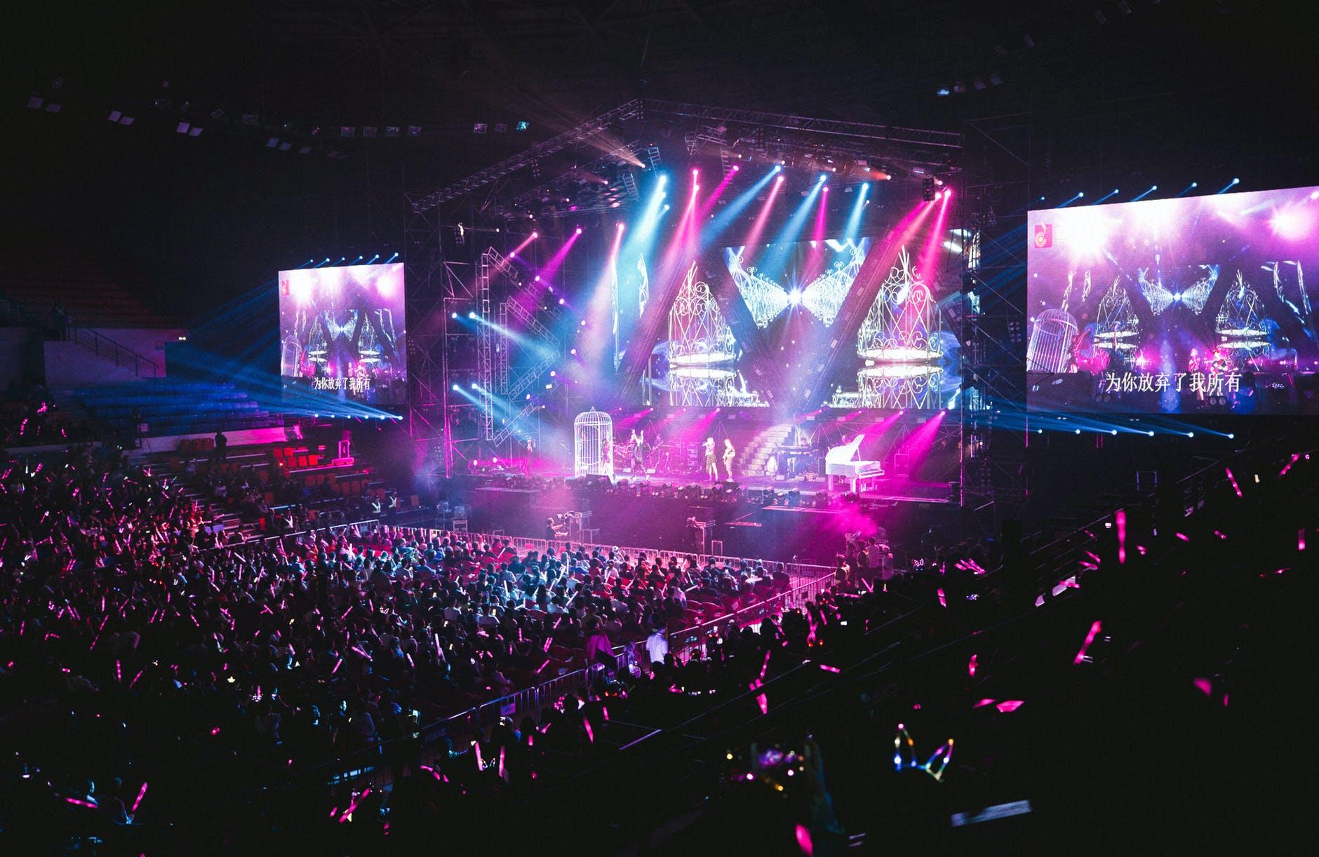 people inside concert hall